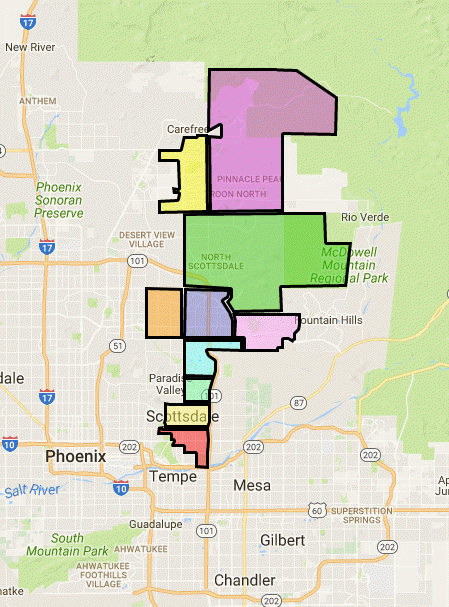 Scottsdale Zip Code Map